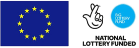 European Union logo and National Lottery Funded logo