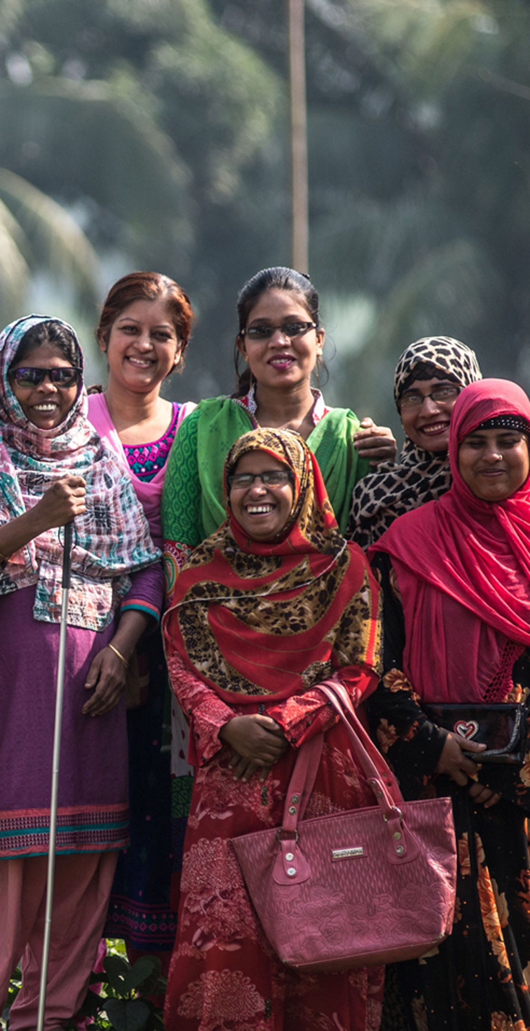 A group of women from a Bangladeshi Disabled Persons Organisation